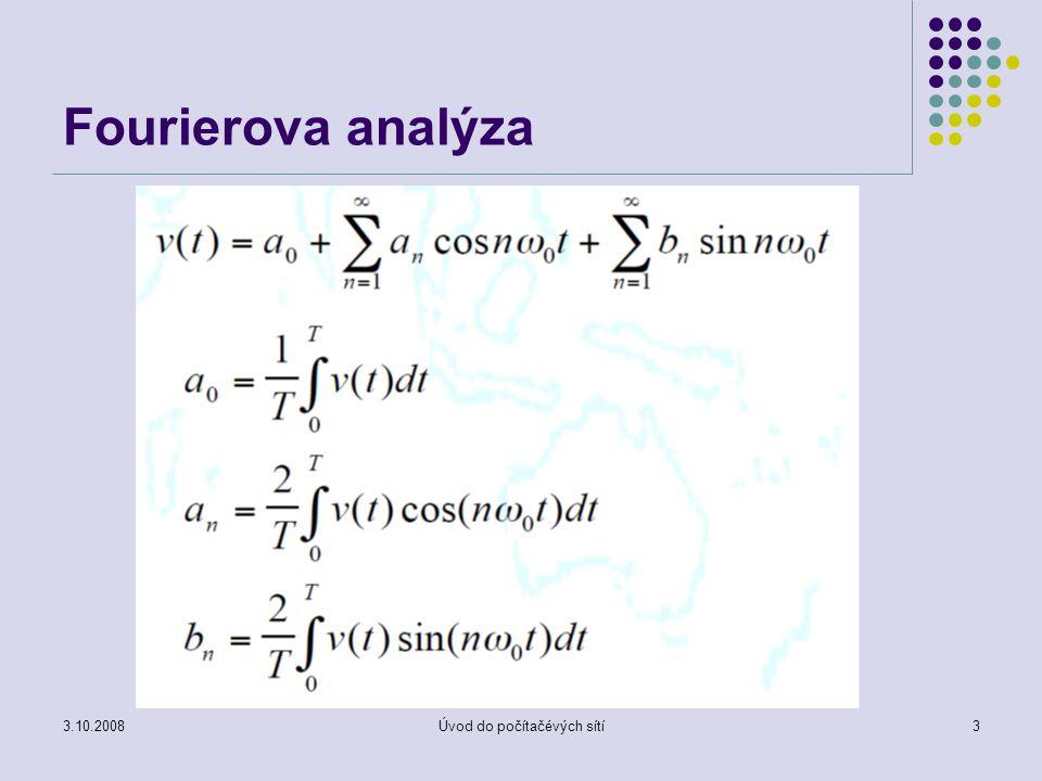 3.10.2008Úvod do počítačévých sítí3 Fourierova analýza