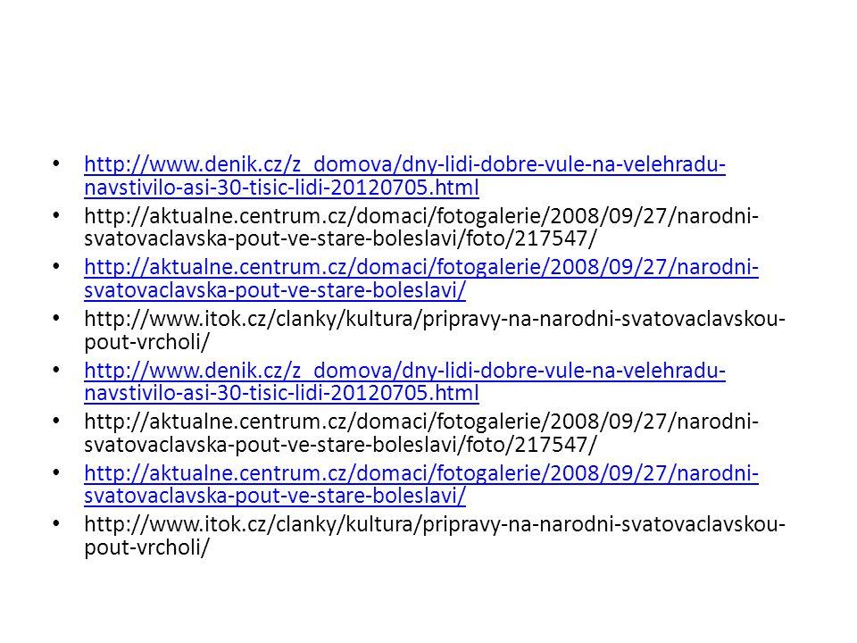 http://www.denik.cz/z_domova/dny-lidi-dobre-vule-na-velehradu- navstivilo-asi-30-tisic-lidi-20120705.html http://www.denik.cz/z_domova/dny-lidi-dobre-