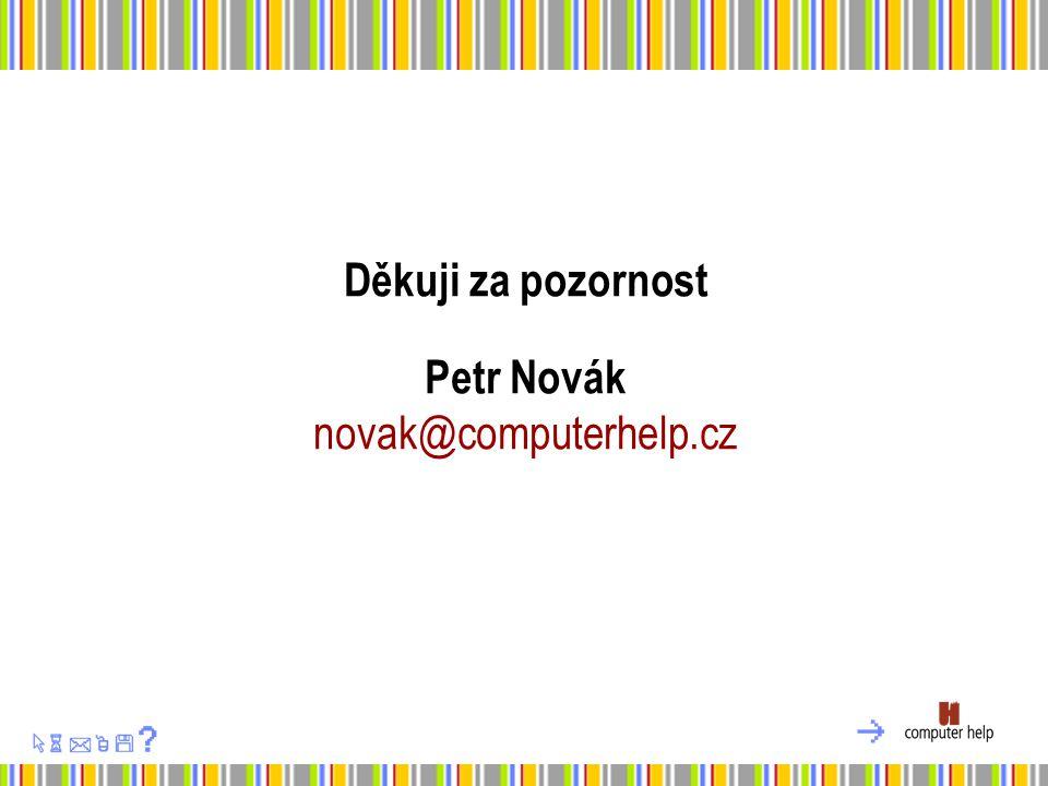 Děkuji za pozornost Petr Novák novak@computerhelp.cz