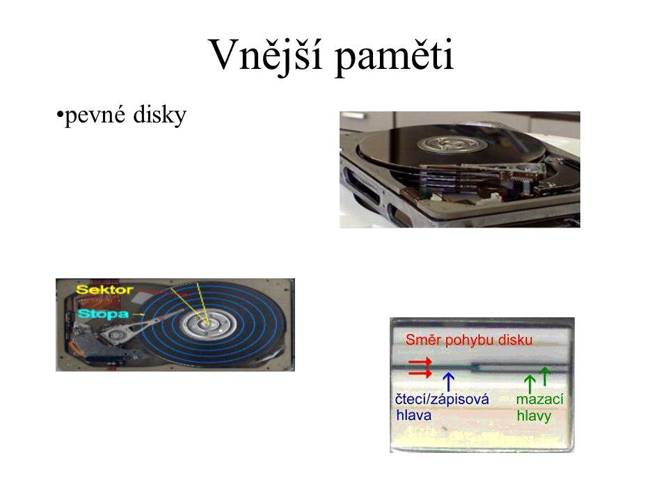 Vnější paměti pevné disky