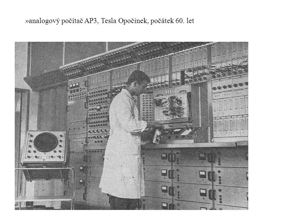 »analogový počítač AP3, Tesla Opočinek, počátek 60. let