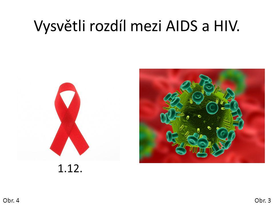 Vysvětli rozdíl mezi AIDS a HIV. 1.12. Obr. 3Obr. 4
