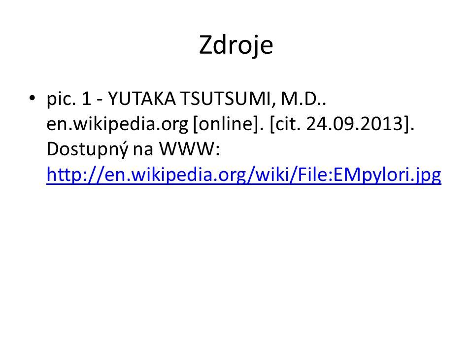 Zdroje pic. 1 - YUTAKA TSUTSUMI, M.D.. en.wikipedia.org [online].