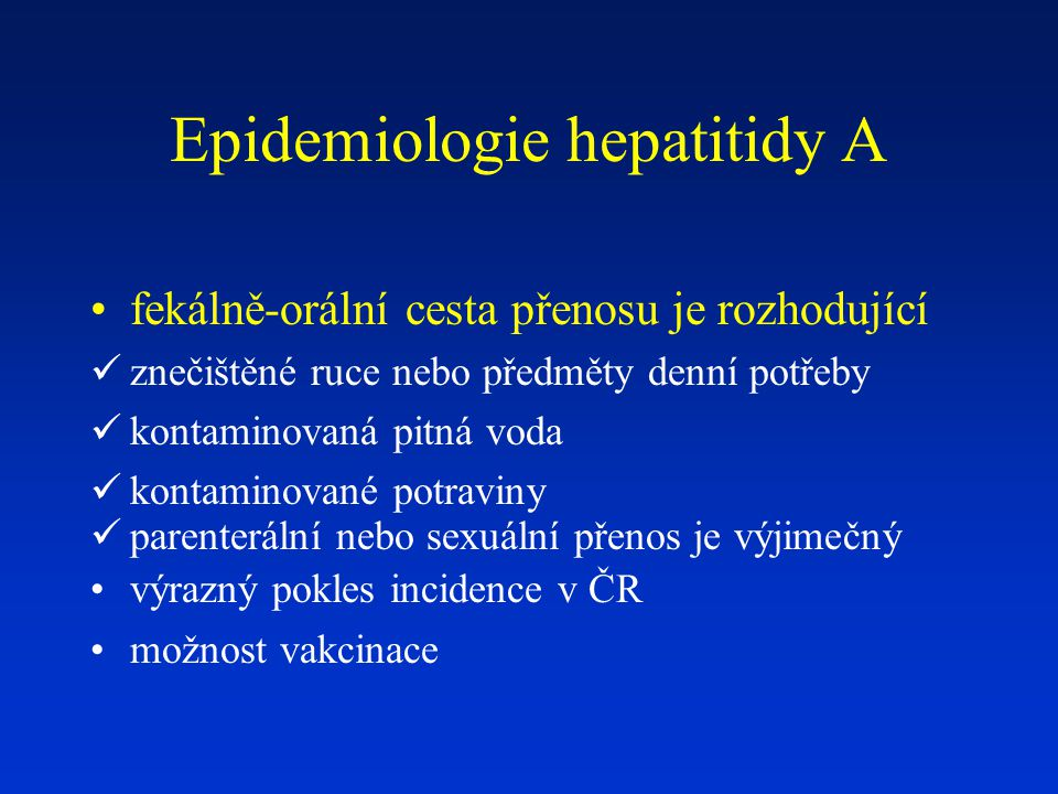 Průběh virové hepatitidy C  u 5-25% pacientů s chronickou VH C se během 25-30 let vyvine cirhóza jaterní, u žen a infikovaných v dětství 1%-3% během 20-30 let  dekompenzace CIH v 30% během 10 let, HCC vzniká ročně u 1-3 % cirhotiků, HCC bez CIH velmi vzácný  vývoj do CIH závisí na řadě faktorů: věk (rychlejší progrese při infikování starších lidí) alkohol obezita imunusuprese včetně koinfekce s HIV koinfekce s HBV