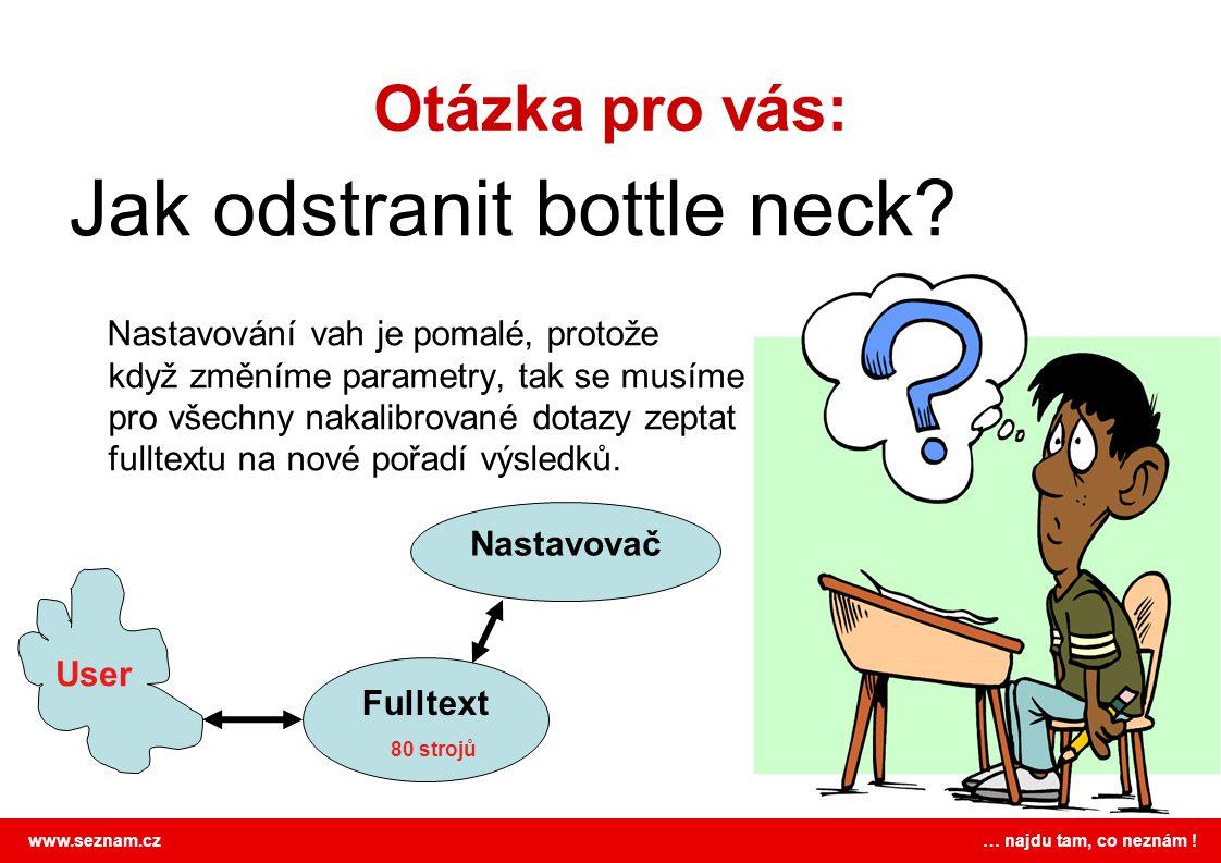 www.seznam.cz … najdu tam, co neznám .Otázka pro vás: Jak odstranit bottle neck.