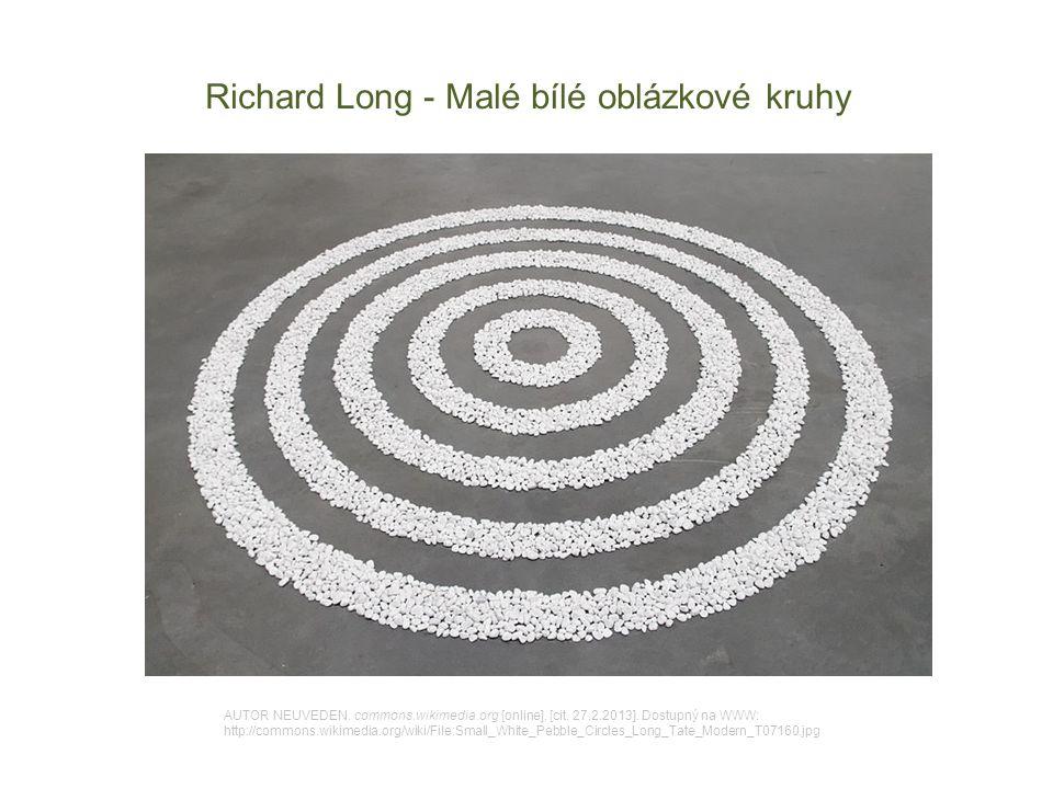 Richard Long - Malé bílé oblázkové kruhy AUTOR NEUVEDEN. commons.wikimedia.org [online]. [cit. 27.2.2013]. Dostupný na WWW: http://commons.wikimedia.o