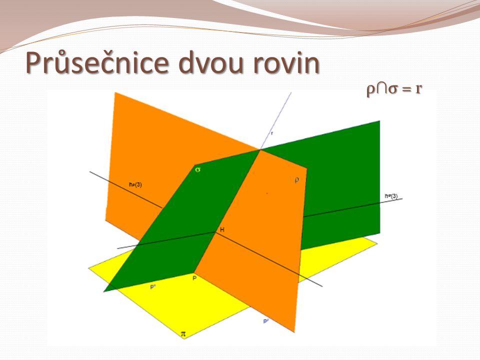 Průsečnice dvou rovin ρ ∩ σ = r