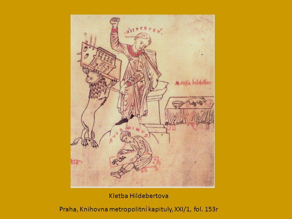 Kletba Hildebertova Praha, Knihovna metropolitní kapituly, XXI/1, fol. 153r