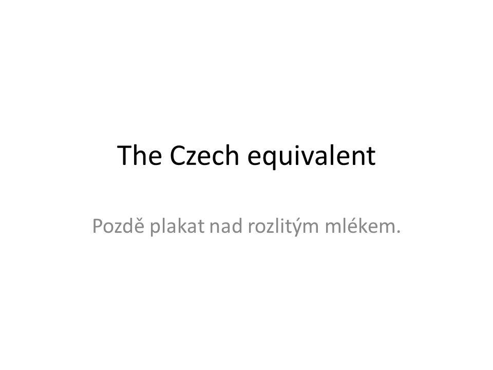 The Czech equivalent Pozdě plakat nad rozlitým mlékem.