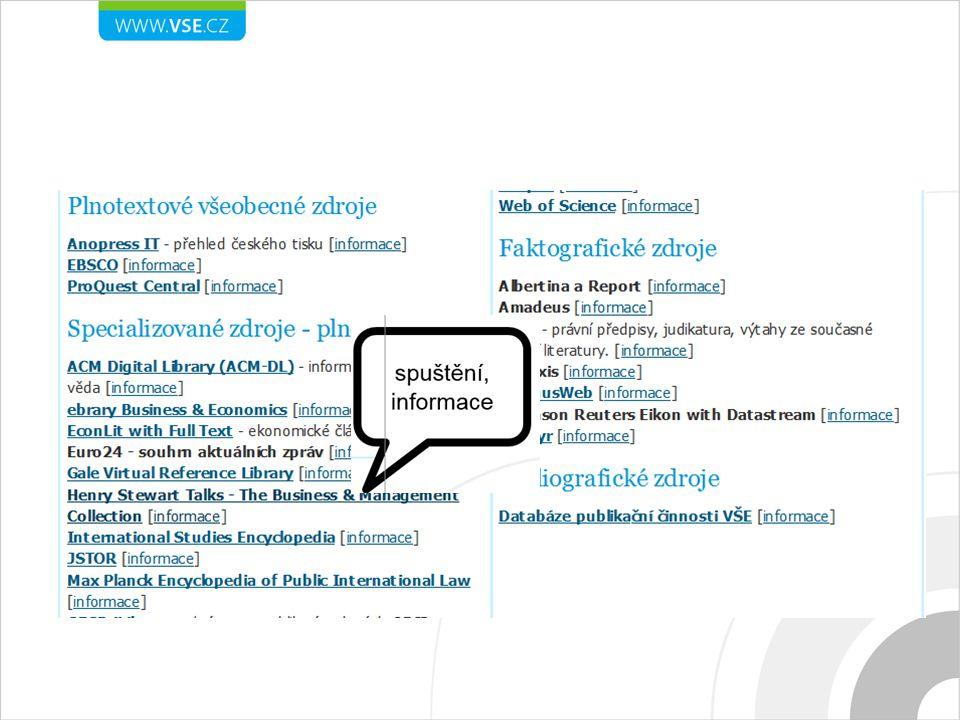Stručný popis a charakteristika databáze Přes 800 audiovizuálních přednášek na téma management, marketing, obchod Podklady k přednáškám ve formátu PDF