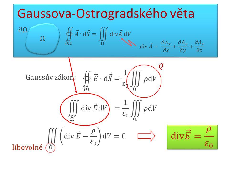 libovolné Gaussova-Ostrogradského věta Gaussův zákon: