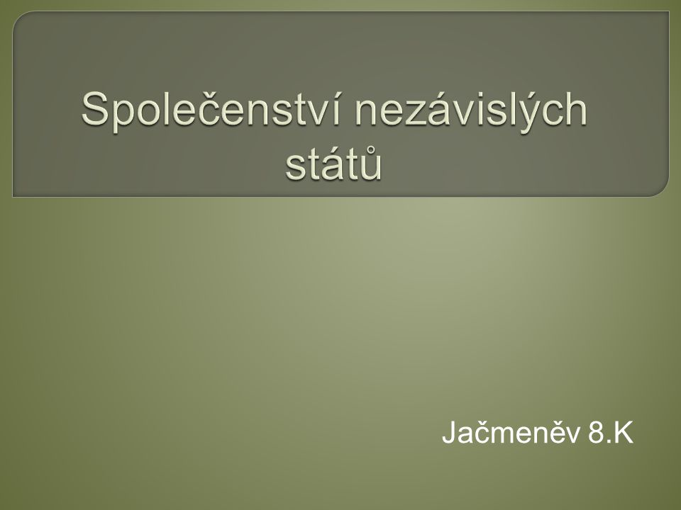 Jačmeněv 8.K