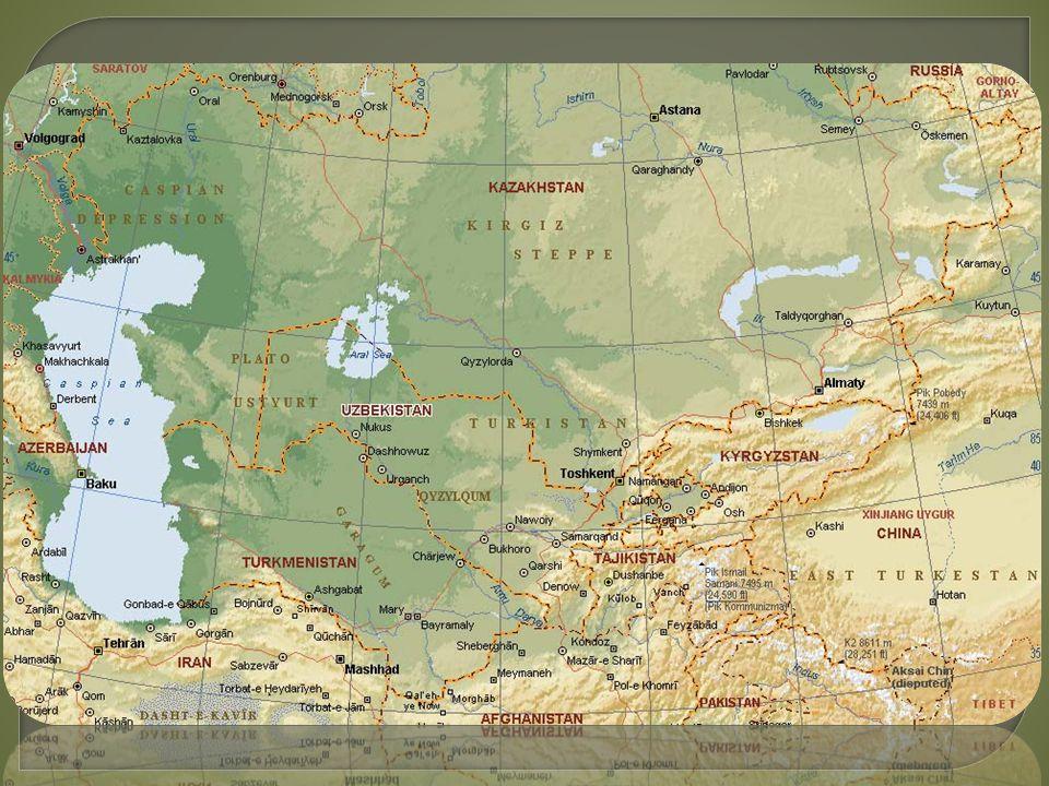  Kazachstán, Turkmenistán, Uzbekistán, Tádžikistán, Kyrgyzstán