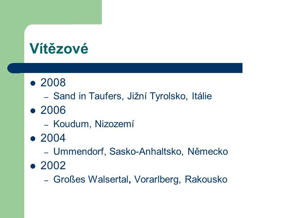 Vítězové 2008 – Sand in Taufers, Jižní Tyrolsko, Itálie 2006 – Koudum, Nizozemí 2004 – Ummendorf, Sasko-Anhaltsko, Německo 2002 – Großes Walsertal, Vo