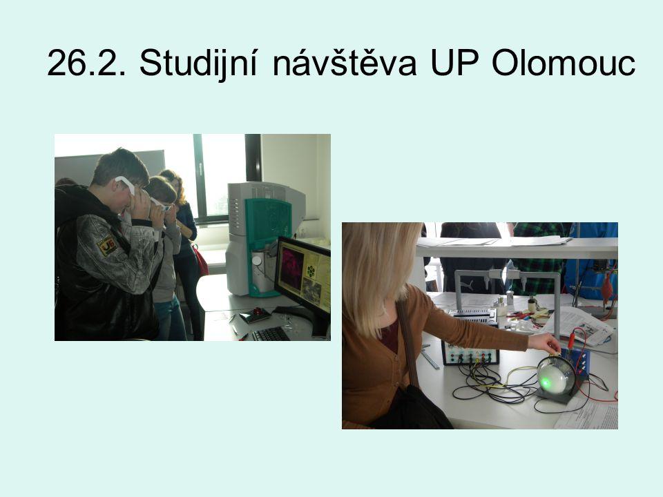 26.2. Studijní návštěva UP Olomouc