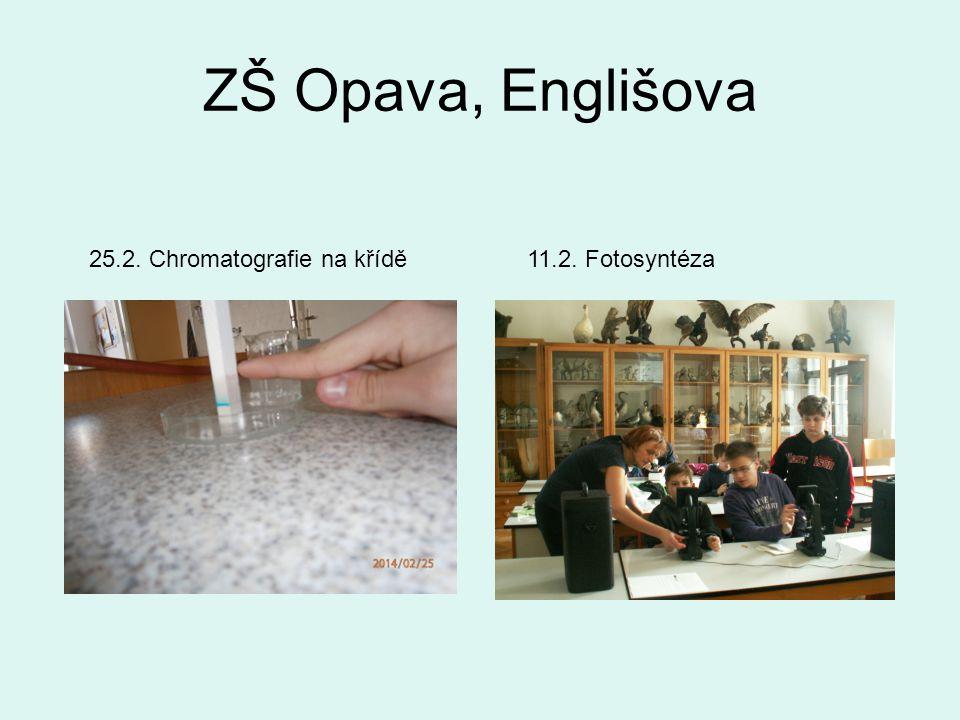 ZŠ Opava, Englišova 11.2. Fotosyntéza25.2. Chromatografie na křídě
