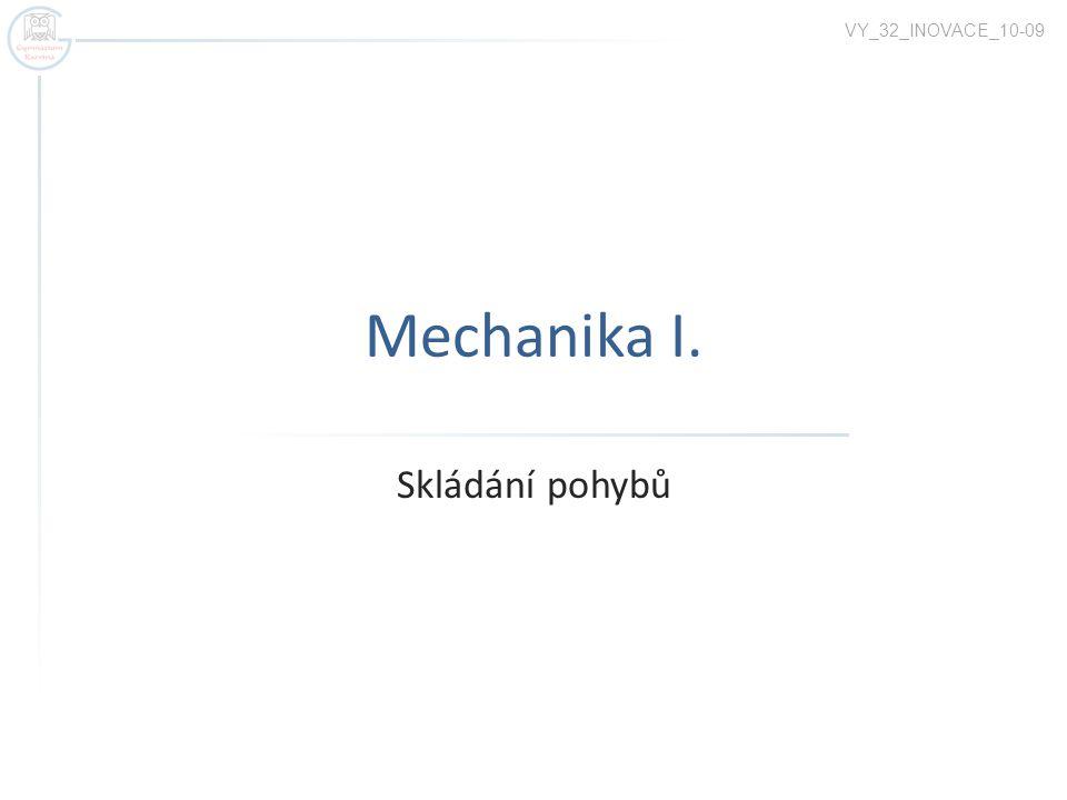Mechanika I. Skládání pohybů VY_32_INOVACE_10-09