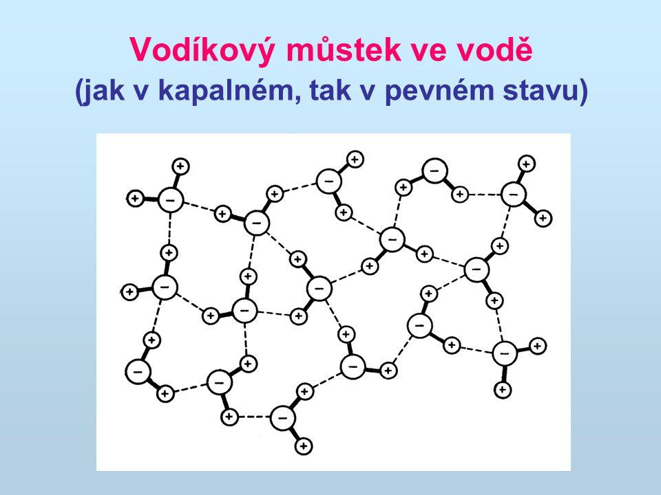 Vodíkový můstek ve vodě (jak v kapalném, tak v pevném stavu)