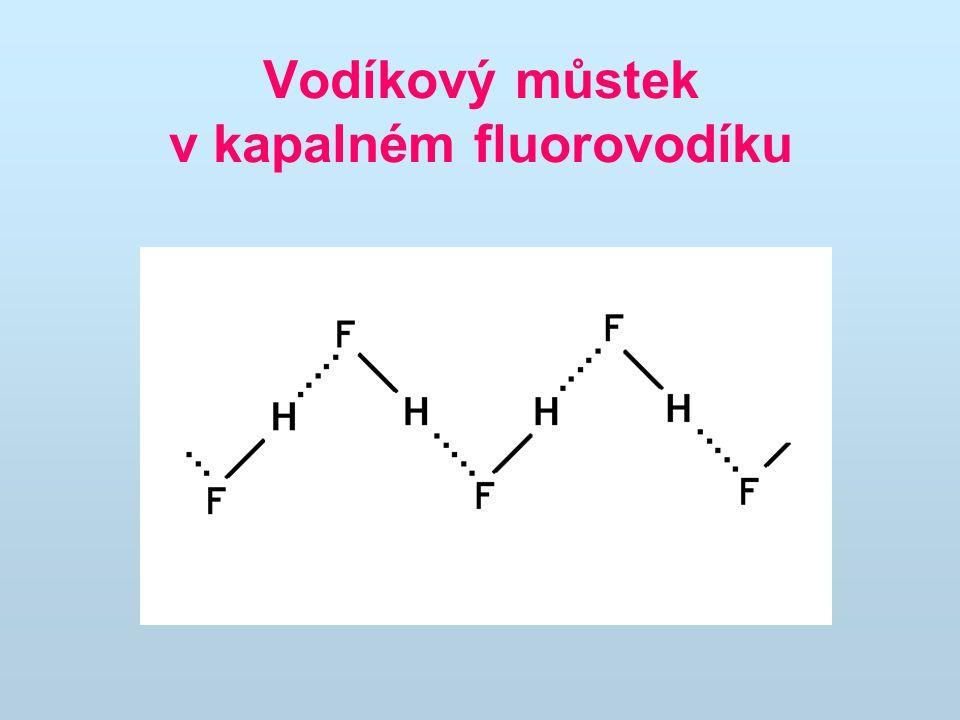 Vodíkový můstek v kapalném fluorovodíku
