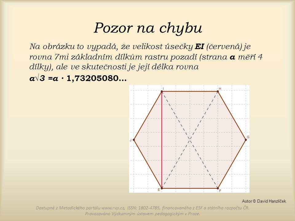 Pozor na chybu Na obrázku to vypadá, že velikost úsečky EI (červená) je rovna 7mi základním dílkům rastru pozadí (strana a měří 4 dílky), ale ve skute