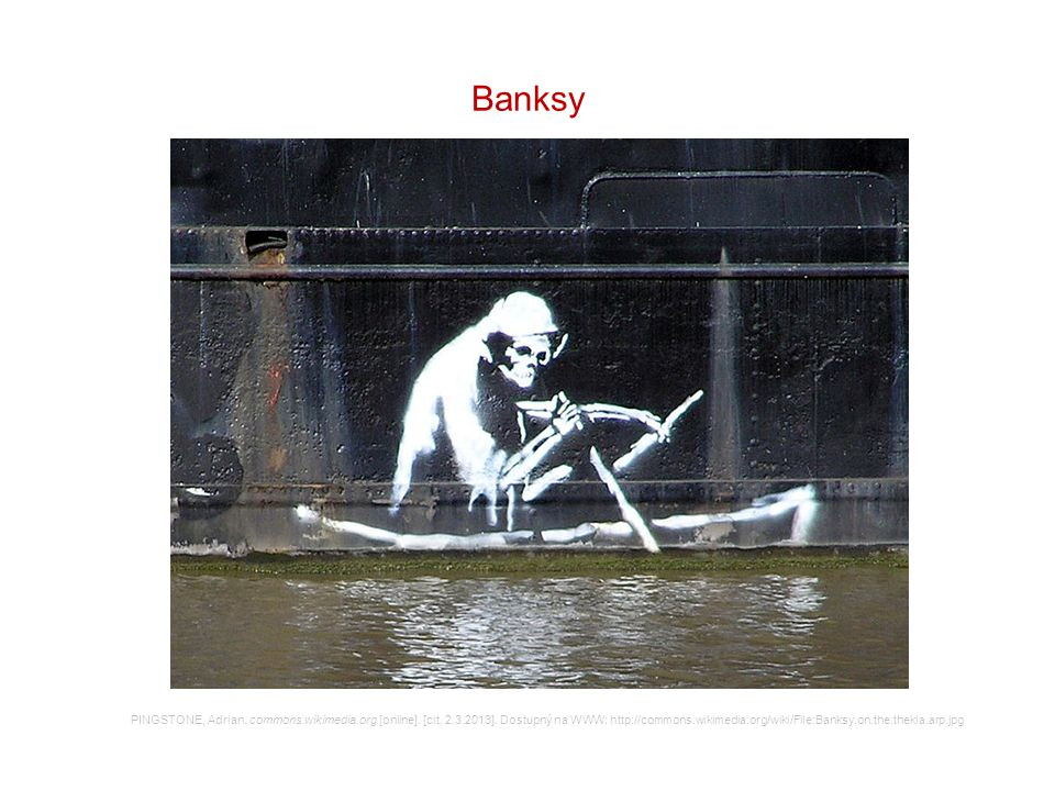 Banksy PINGSTONE, Adrian. commons.wikimedia.org [online].
