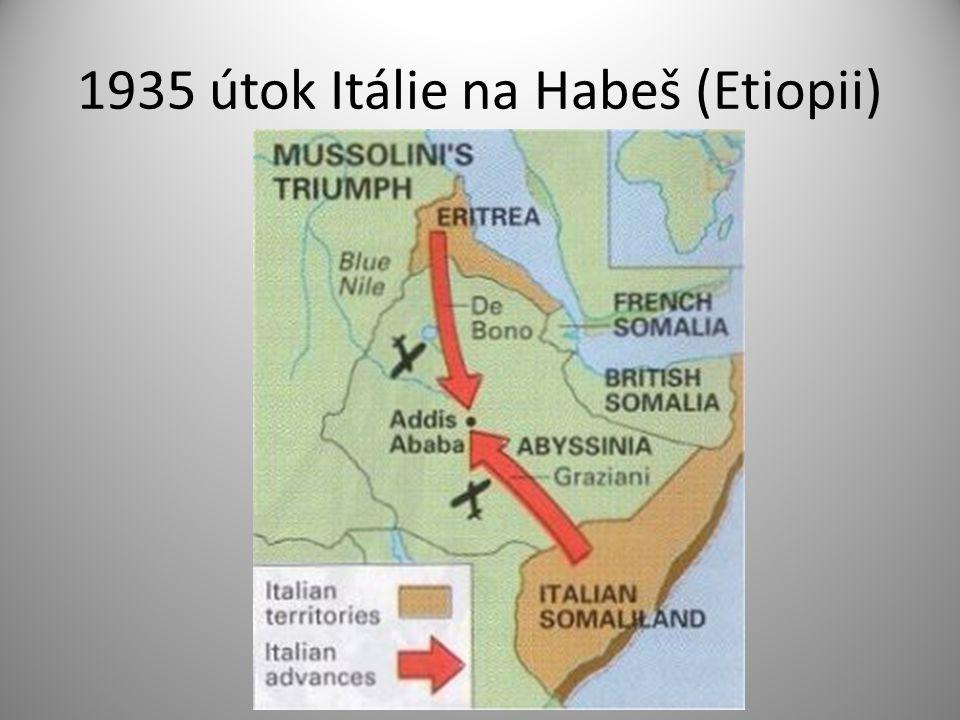 1935 útok Itálie na Habeš (Etiopii)