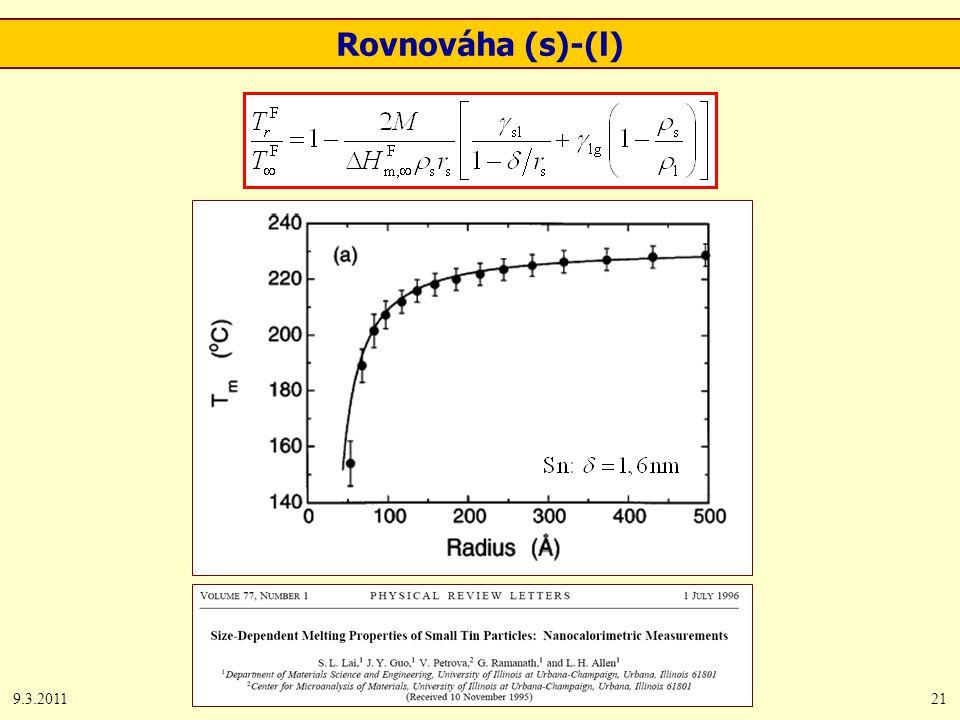 9.3.201121 Rovnováha (s)-(l)