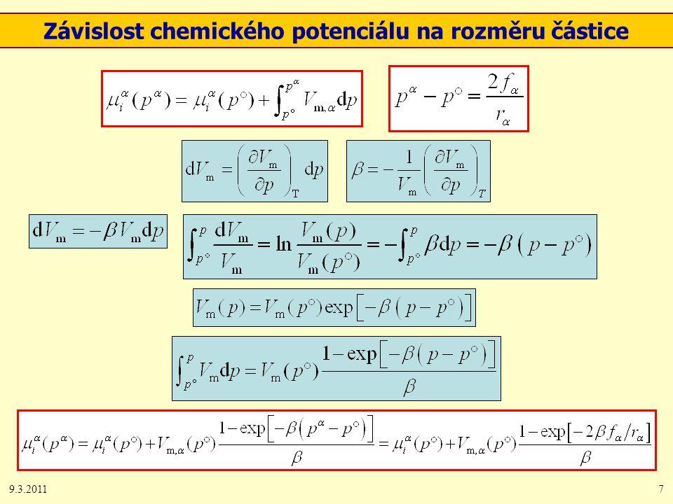 9.3.20117 Závislost chemického potenciálu na rozměru částice
