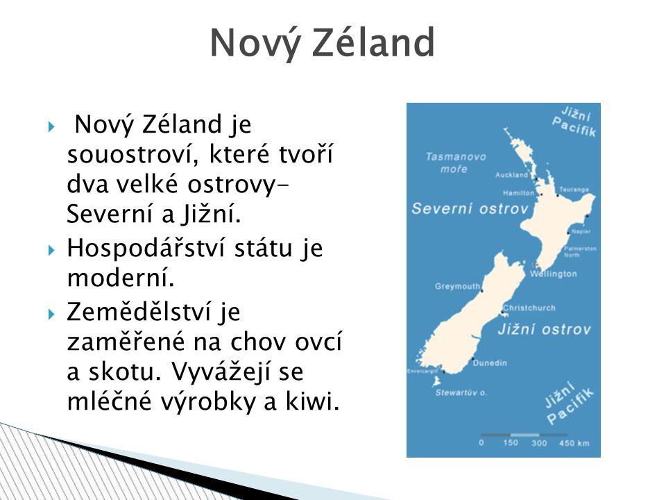 Hlavním městem Nového Zélandu je Wellington, největším městem je Auckland. Města
