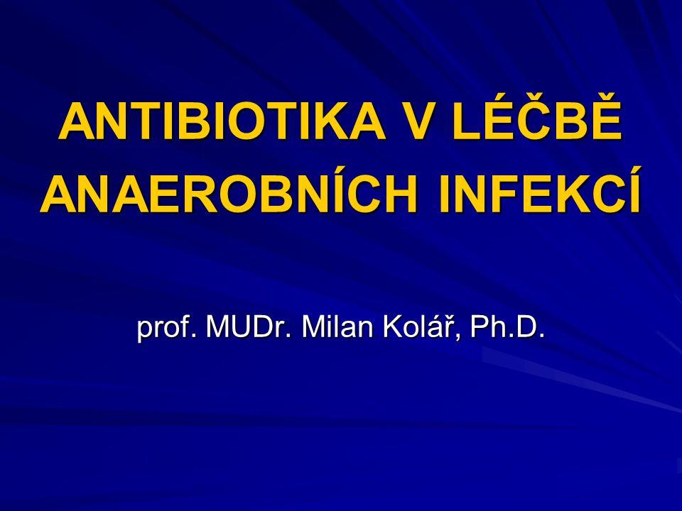 Problematika bakteriální rezistence se týká celého spektra mikroorganismů, včetně anaerobních bakterií.