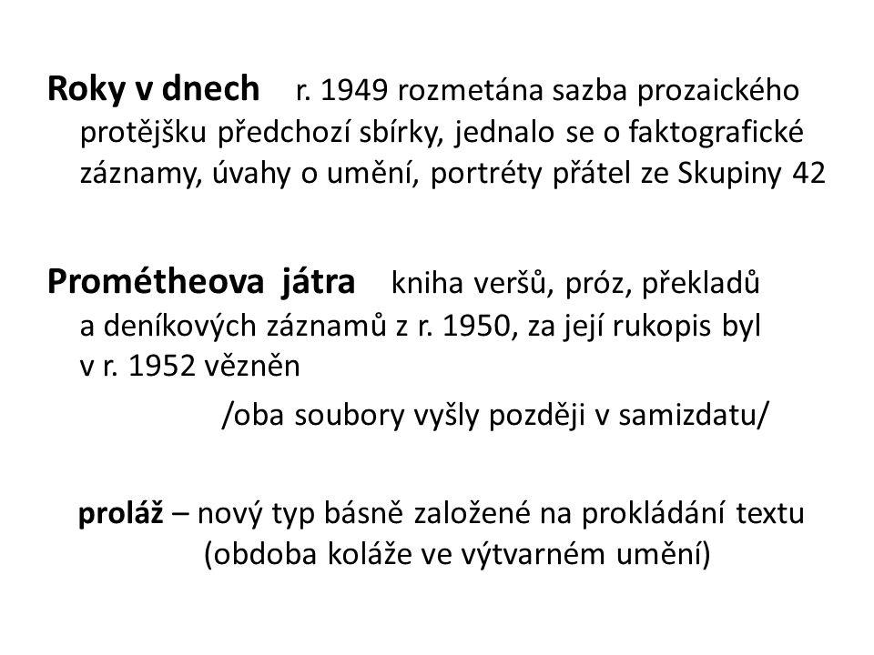 Od 60.let se Jiří Kolář věnoval více výtvarnému umění Obr.
