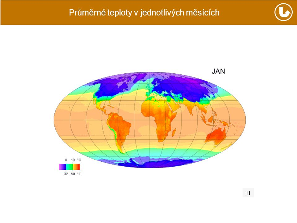 Průměrné teploty v jednotlivých měsících 11