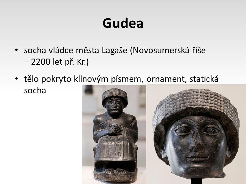 Gudea socha vládce města Lagaše (Novosumerská říše – 2200 let př.