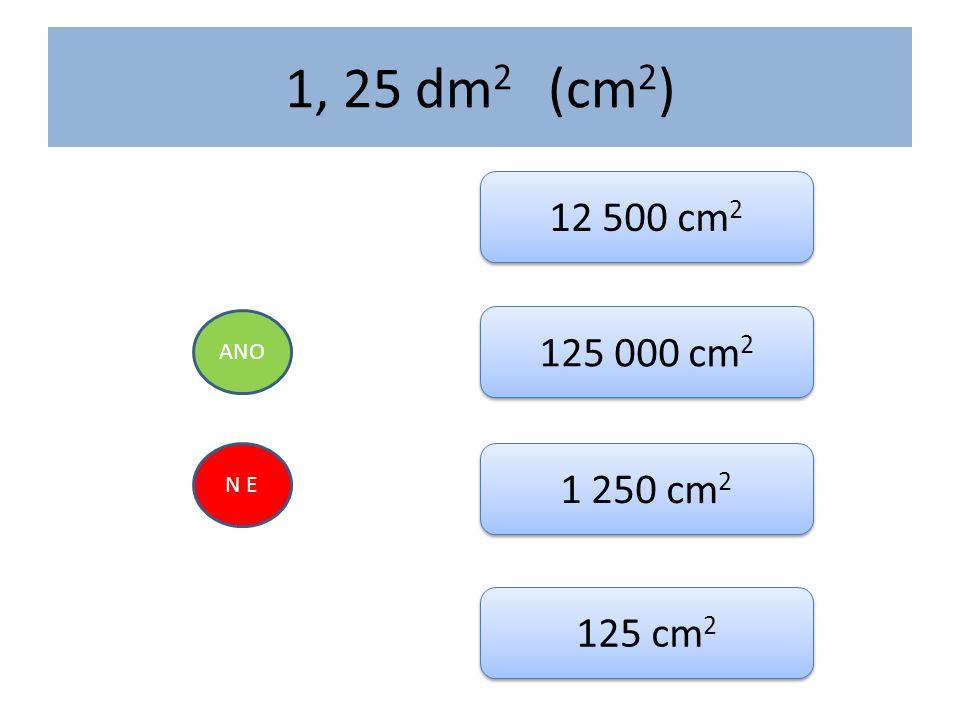 1, 25 dm 2 (cm 2 ) ANO N E 12 500 cm 2 125 000 cm 2 1 250 cm 2 125 cm 2