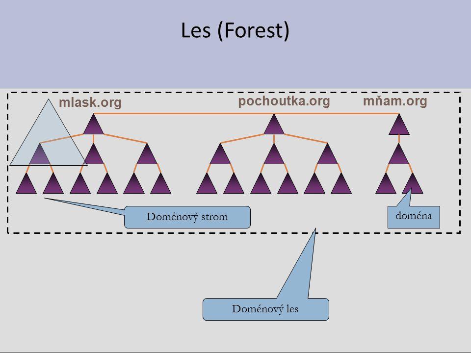 Les (Forest) pochoutka.org mlask.org mňam.org Doménový strom doména Doménový les