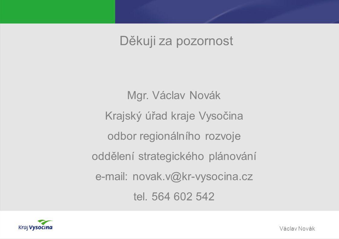 Václav Novák Děkuji za pozornost Mgr.