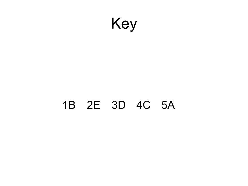 Key 1B2E3D4C5A