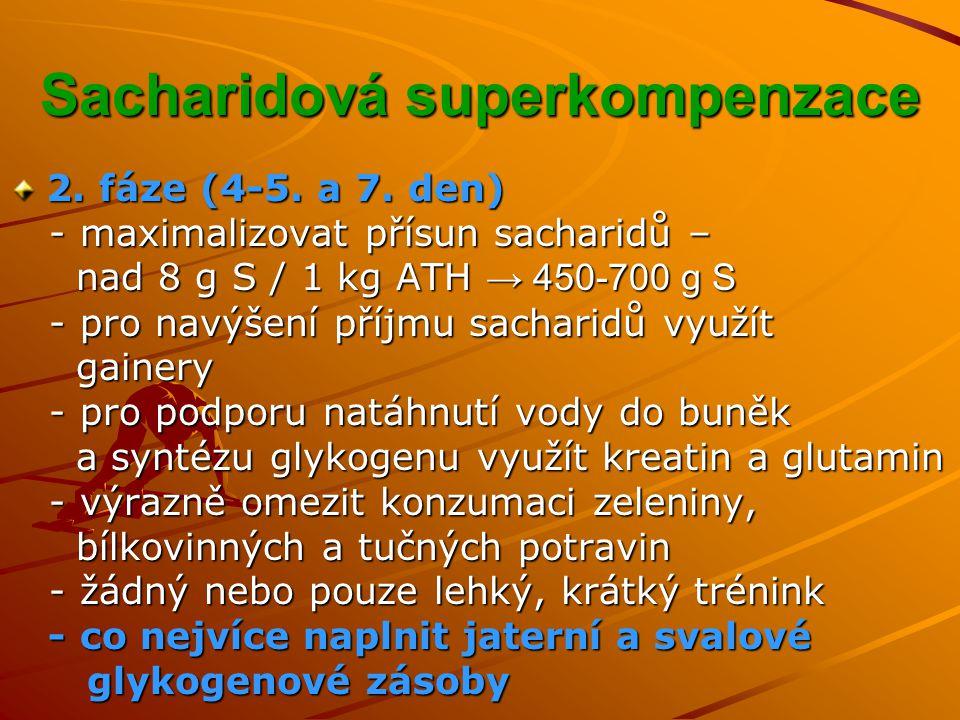 Sacharidová superkompenzace 2.fáze (4-5. a 7.