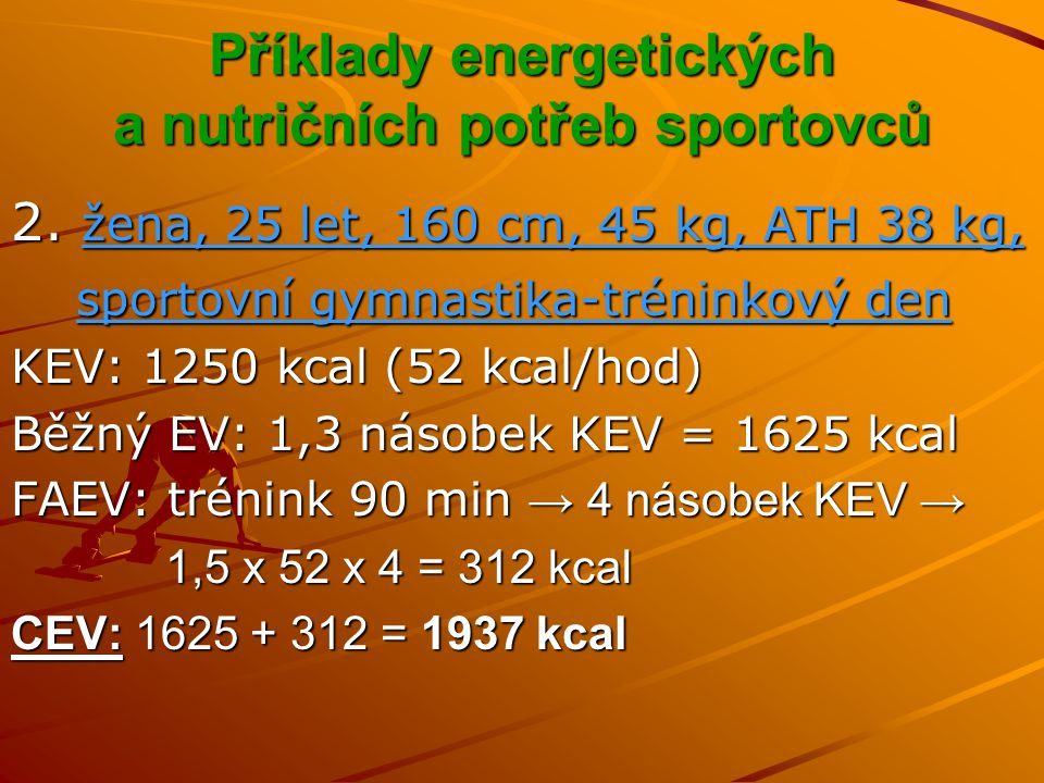 Kdy, co, kolik jíst, pít před fyzickou aktivitou Je-li plánována delší aerobní činnost, měla by před-tréninková strava obsahovat větší nálož sacharidů se středním a nižším glykemickým indexem, s nižším množství bílkovin.