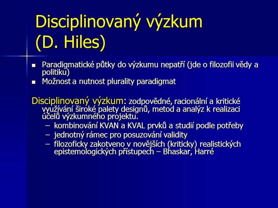 Disciplinovaný výzkum (D.