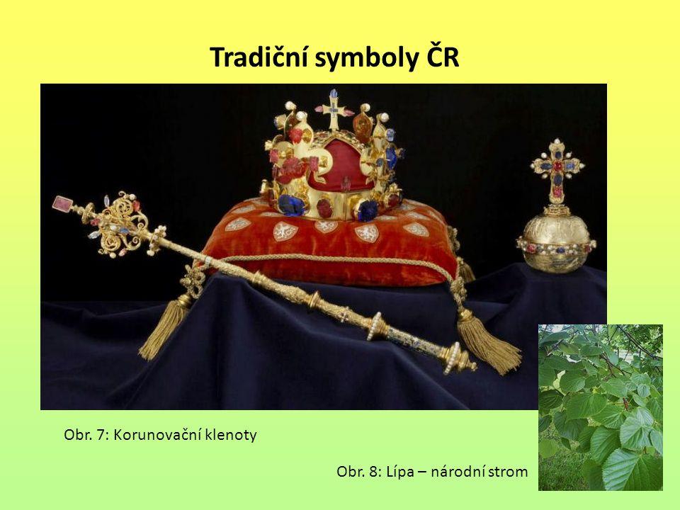 Tradiční symboly ČR Obr. 8: Lípa – národní strom Obr. 7: Korunovační klenoty