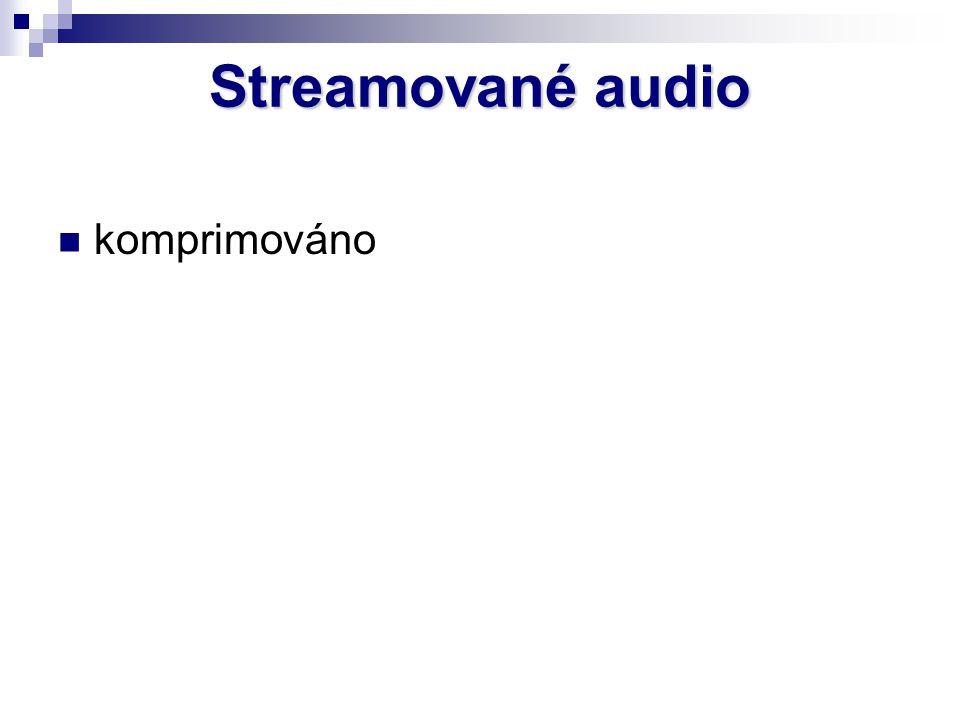 Streamované audio komprimováno