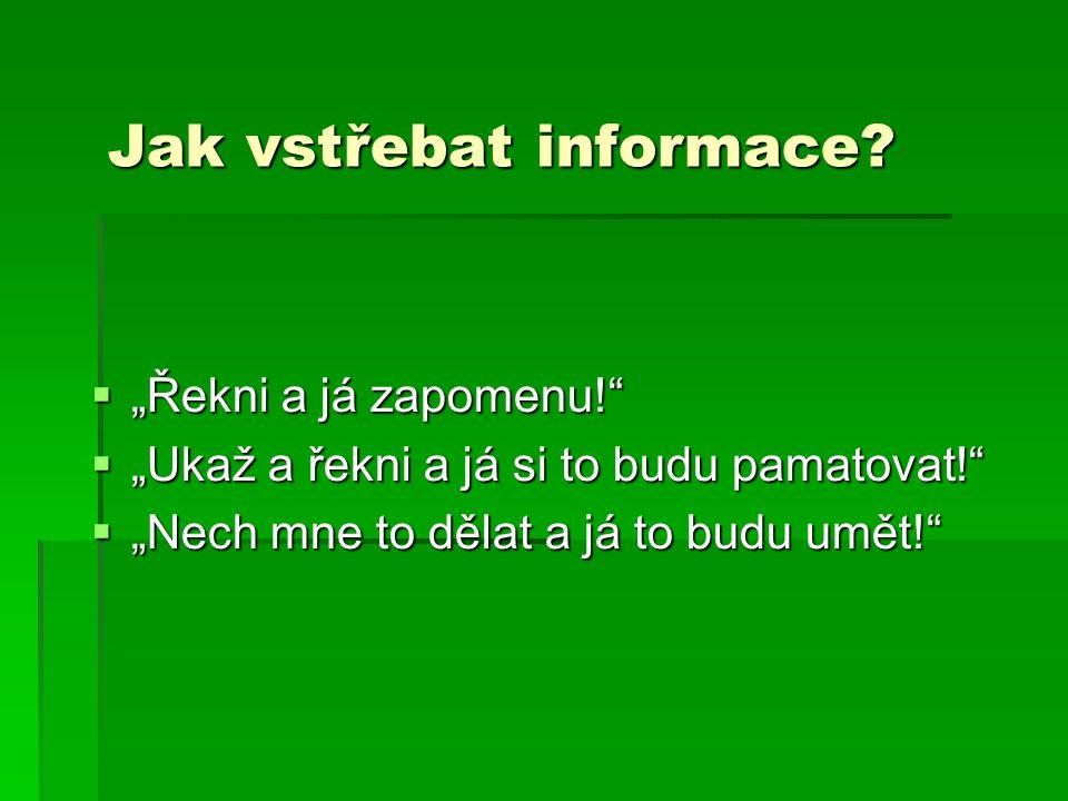 Jak vstřebat informace.