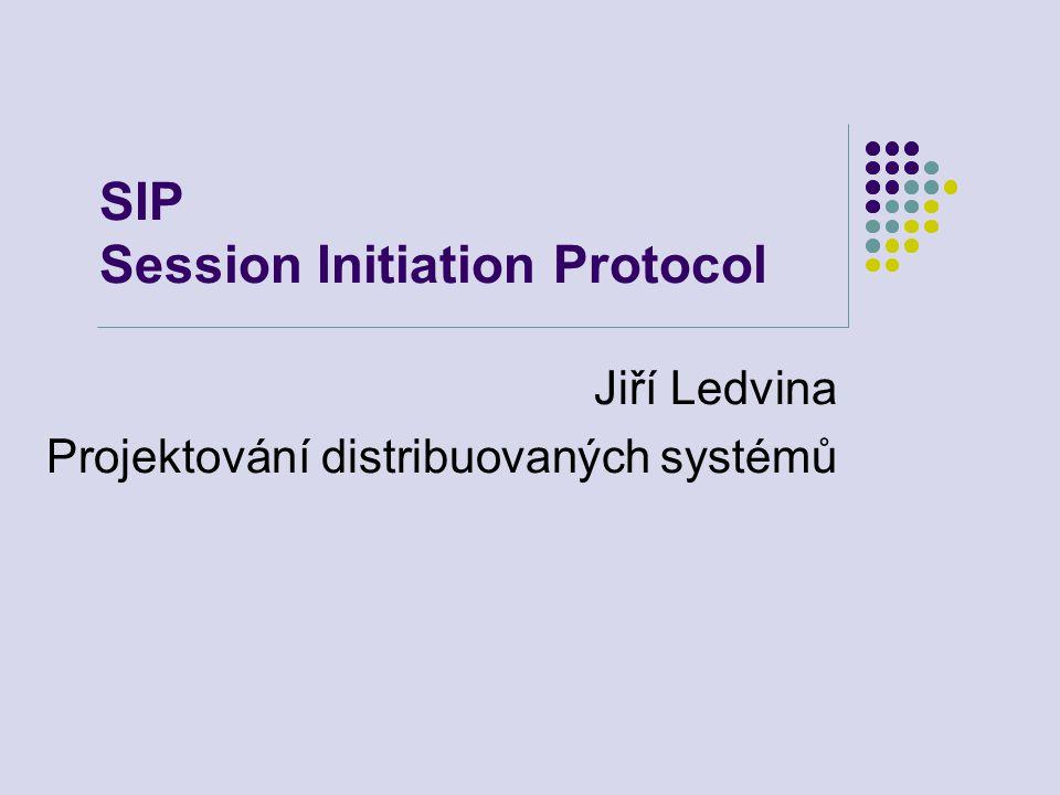 SIP Session Initiation Protocol Jiří Ledvina Projektování distribuovaných systémů