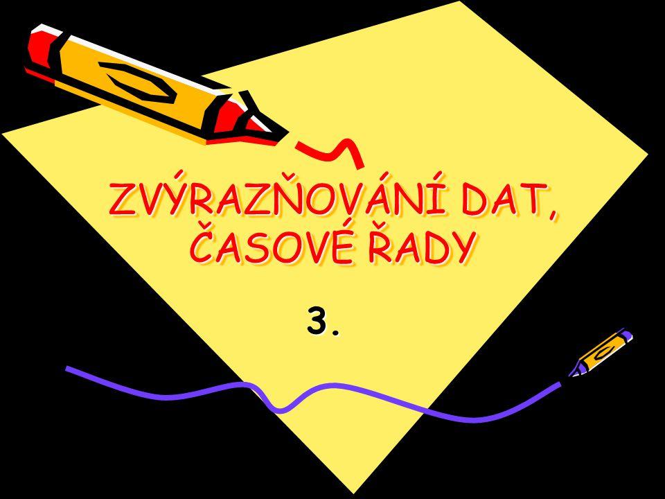 ZVÝRAZŇOVÁNÍ DAT, ČASOVÉ ŘADY 3.