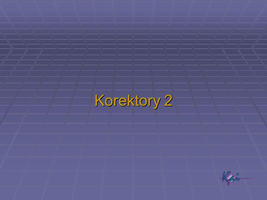 Korektory 2