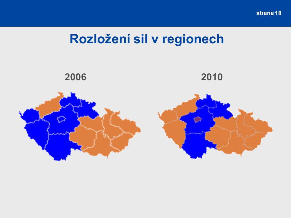 Rozložení sil v regionech 20062010 strana 18