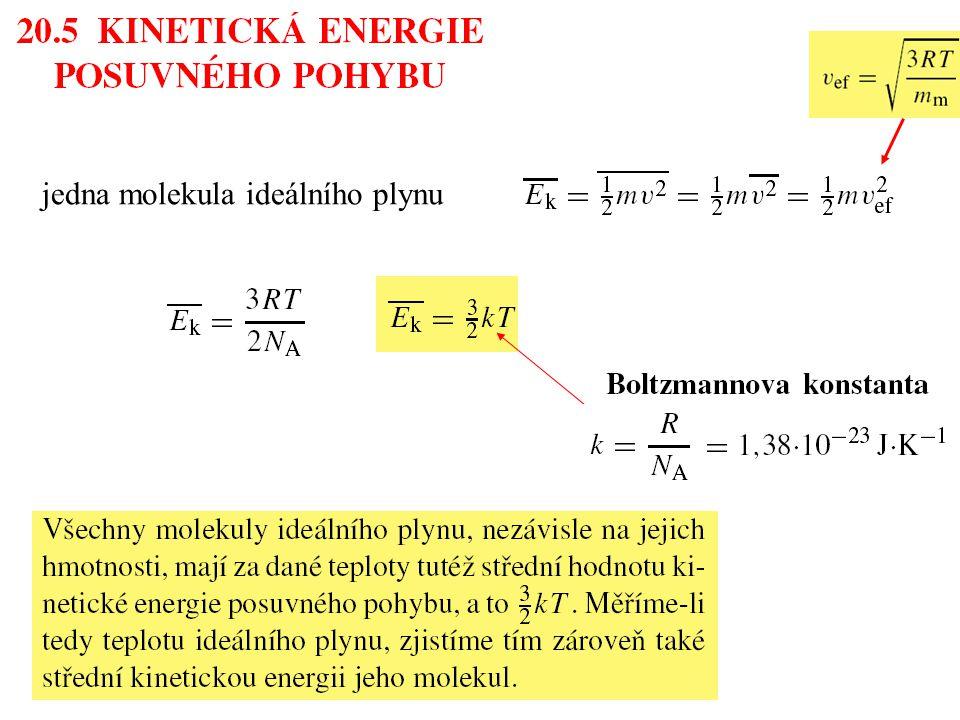 jedna molekula ideálního plynu
