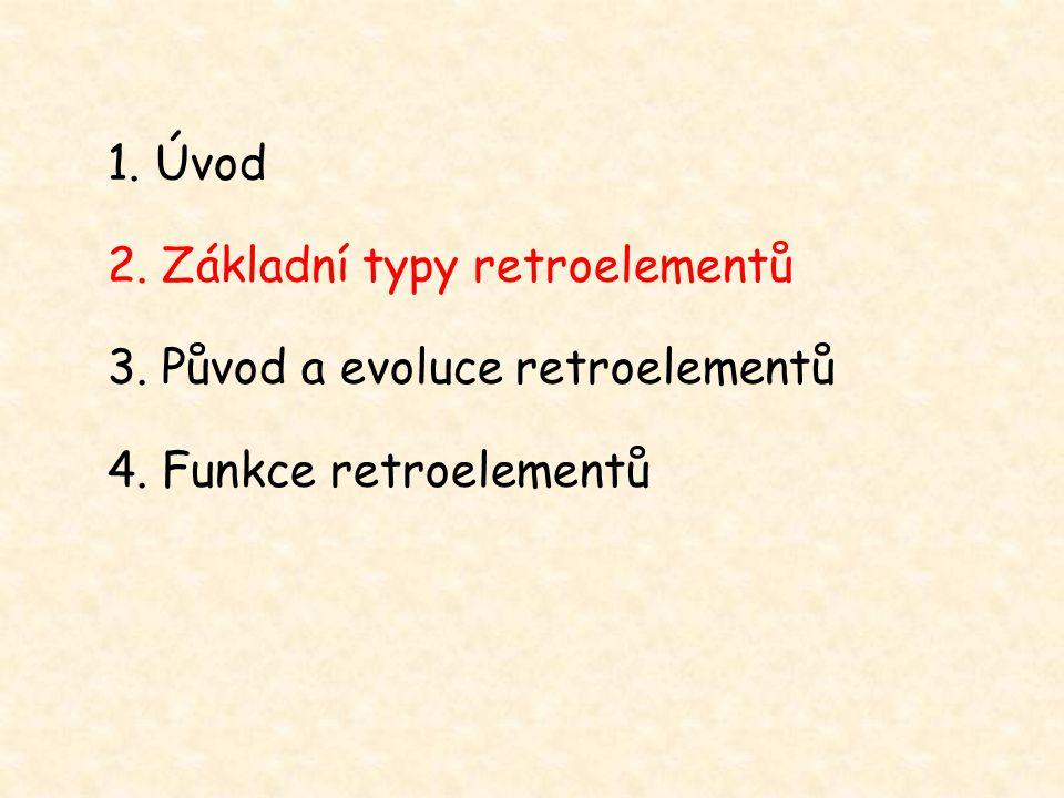 1. Úvod 2. Základní typy retroelementů 3. Původ a evoluce retroelementů 4. Funkce retroelementů