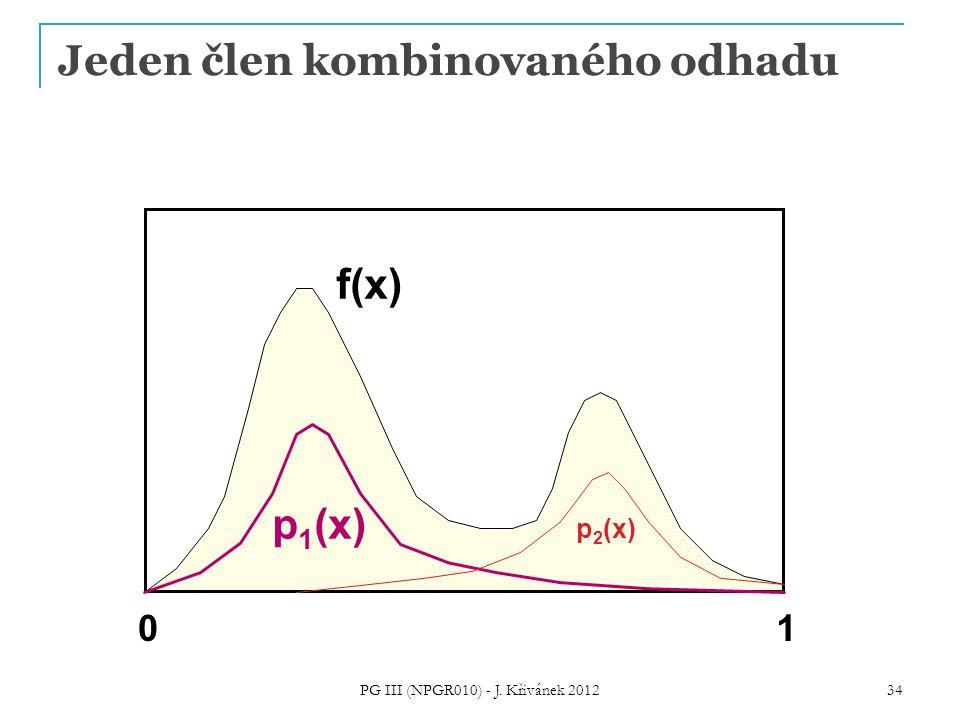 Jeden člen kombinovaného odhadu f(x) 01 p 1 (x) p 2 (x) PG III (NPGR010) - J. Křivánek 2012 34
